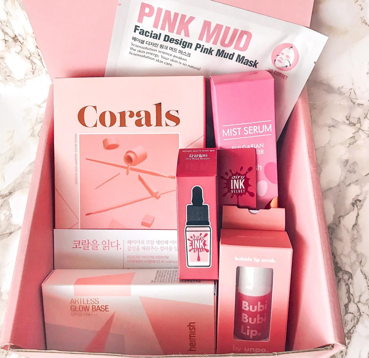 heimish dailism eye palette coral essay - Stylekorean pink box