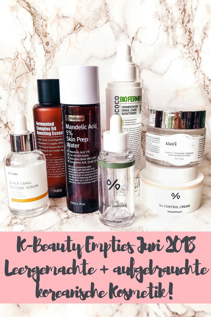 K-Beauty Empties Juni 2018: Aufgebrauchte koreanische Kosmetik!