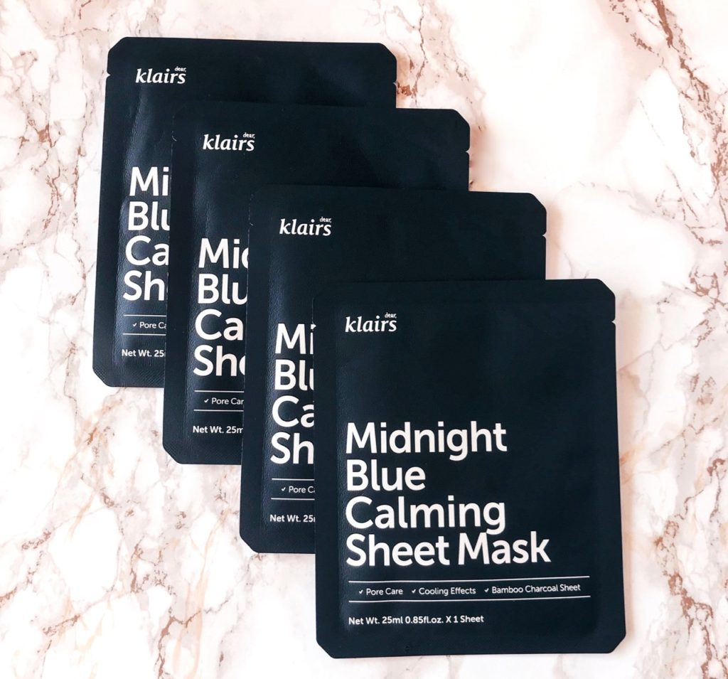 Wishtrend Black Friday Sale 2019 - Klairs Midnight Blue Calming Sheet Masks