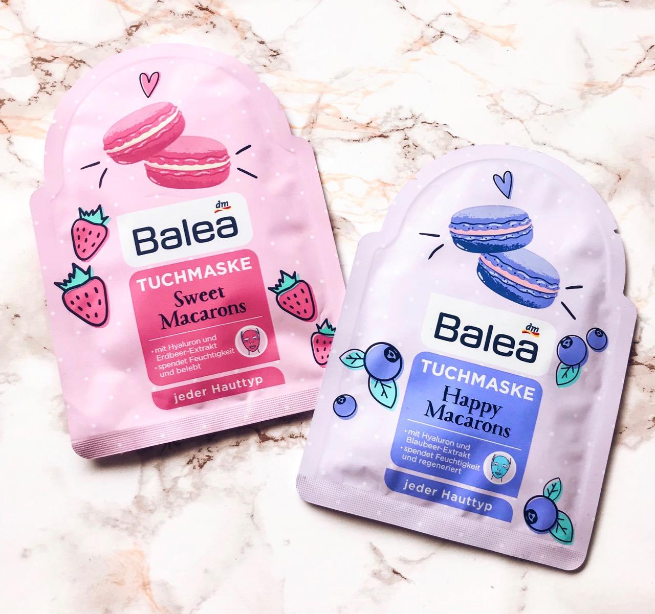 Balea Tuchmasken Sweet Macarons Test