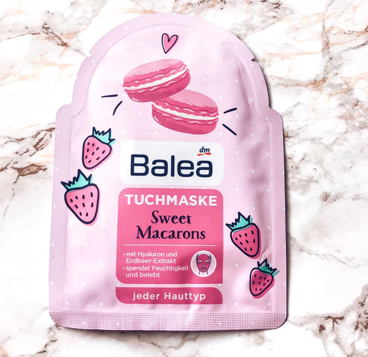 Balea Tuchmasken Sweet Macarons