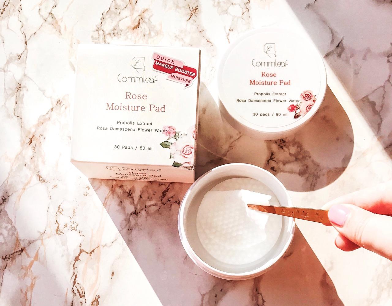 Commleaf rose moisture pad korean skincare review