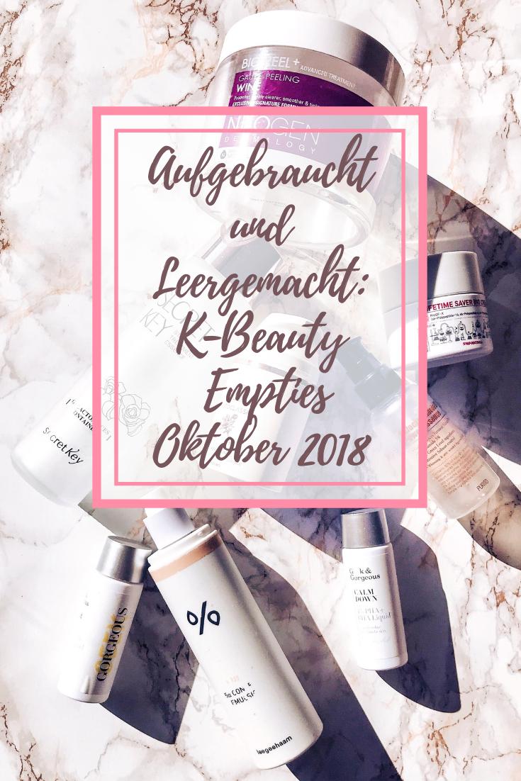 K-Beauty Empties Oktober 2018: Aufgebraucht und Leergemacht!