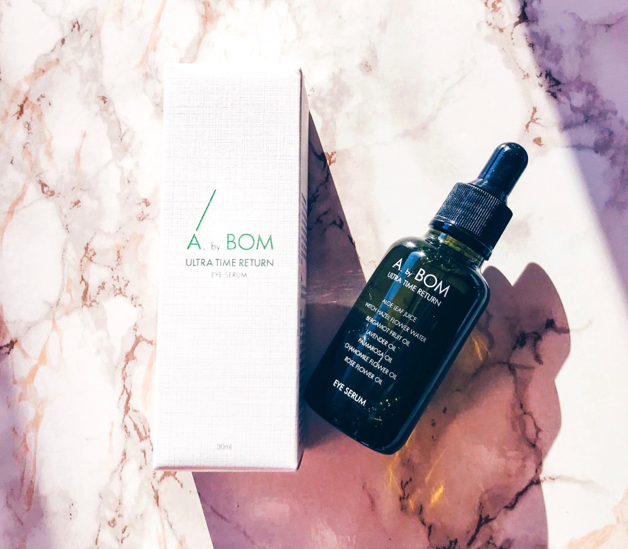 A. By BOM Ultra Time Return Eye Serum K-beauty review