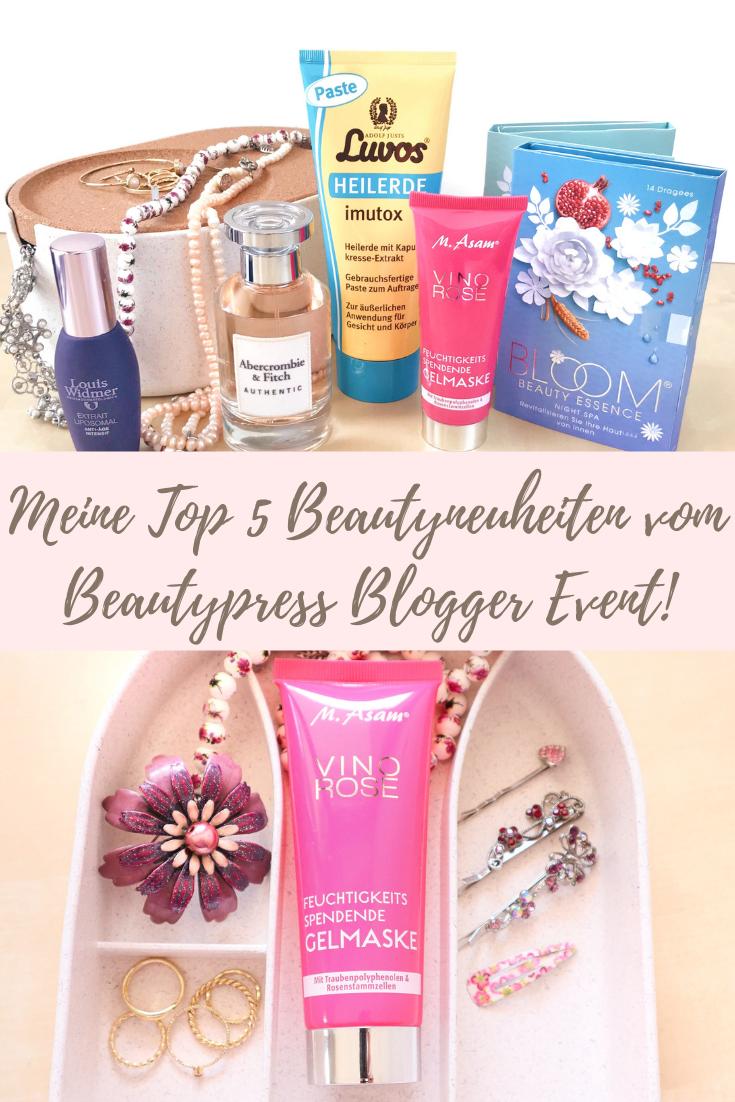 Meine Top 5 Beautyneuheiten 2019 vom Beautypress Blogger Event