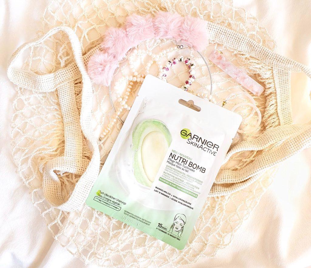 Garnier SkinActive Nutri-Bomb Milch Tuchmasken ausprobiert
