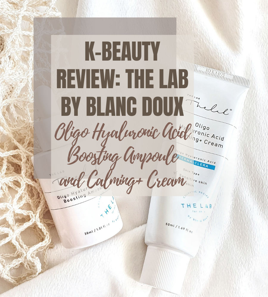 The Lab by Blanc Doux Oligo Hyaluronic Acid Boosting Ampoule and Calming+ Cream