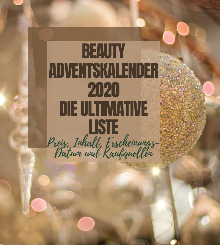 Beauty Adventskalender 2020 Übersicht