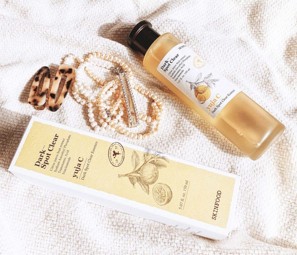 Skinfood Yuja C Dark Spot Clear Essence review post