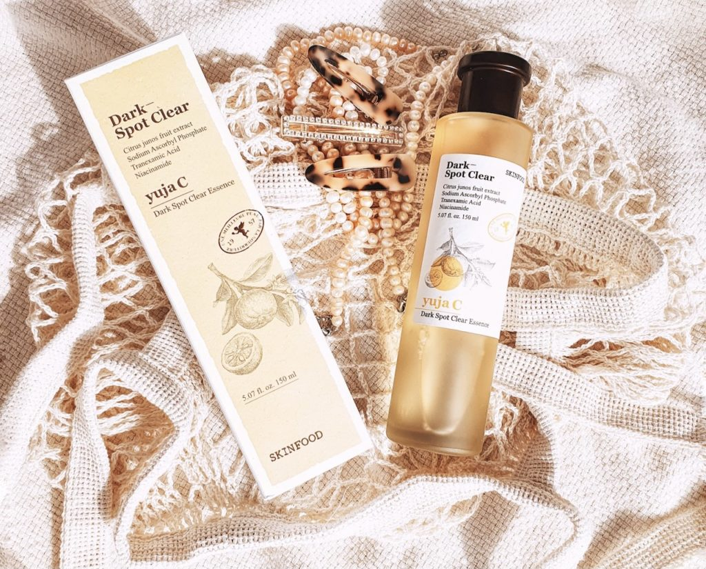 Skinfood Yuja C Dark Spot Clear Essence Korean blog review