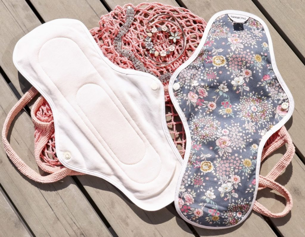 The Brand Hannah organic reusable pads material