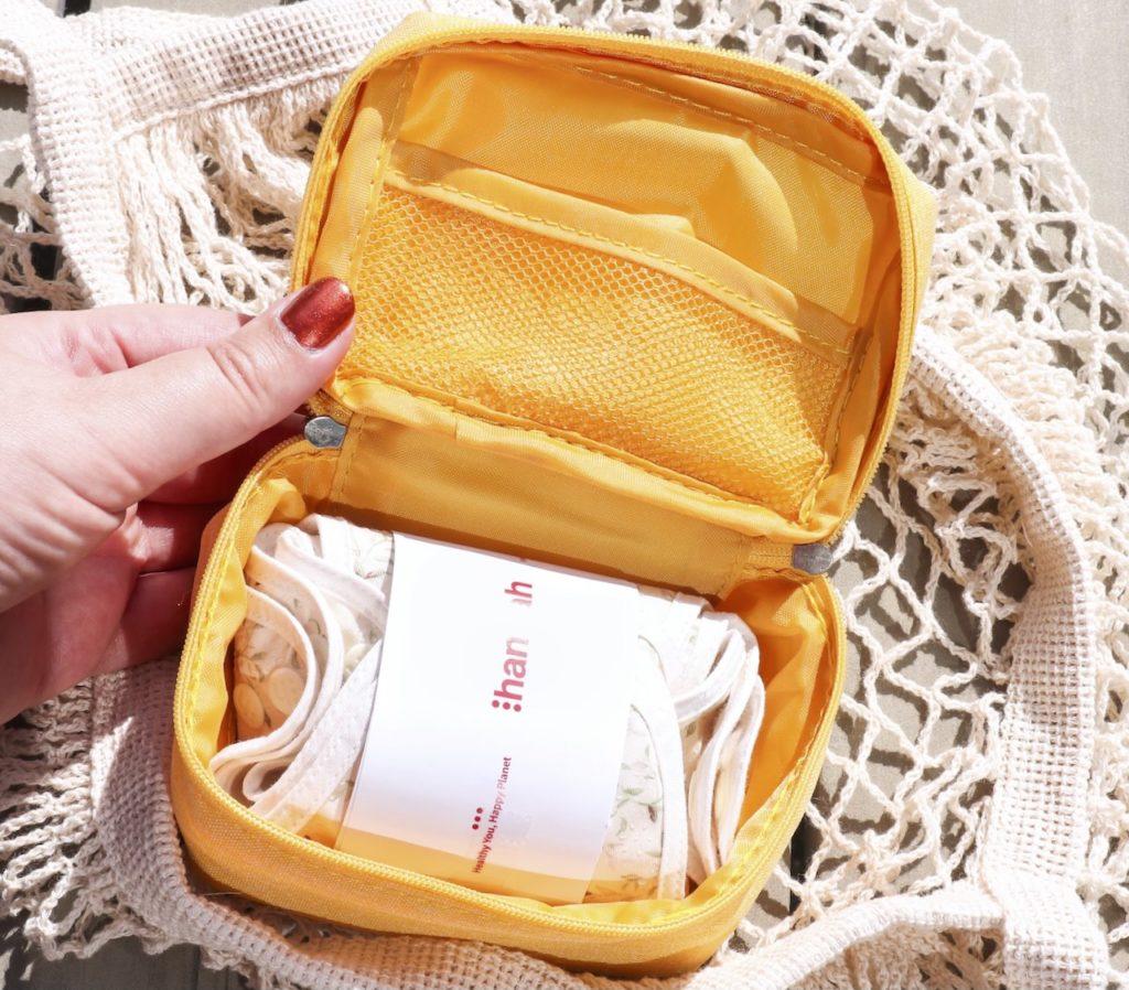 The Brand Hannah reusable organic pads