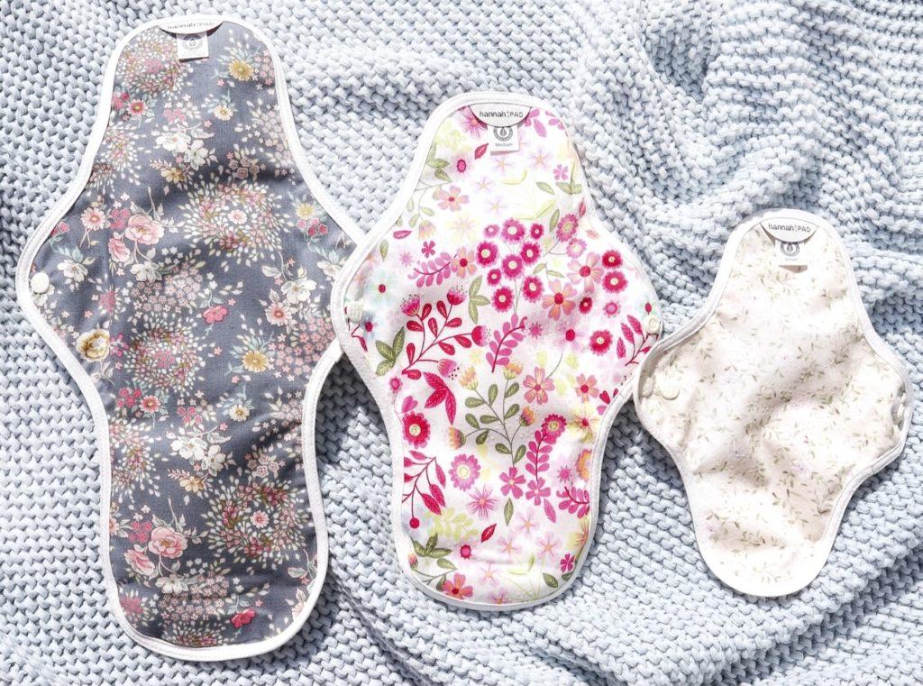 The Brand Hannah reusable organic pads leak-proof